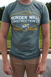 Border Wall Construction Co. T-Shirt HEATHER GRAY Short-Sleeve-Crew-Neck-T Shirt