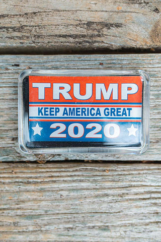 TRUMP Keep America Great 2020 Decorative Glass Paperweight