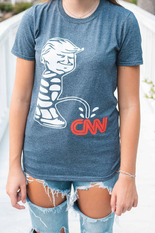 Piss on CNN T-Shirt HEATHER GRAY short-sleeve t shirt