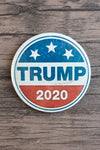 Trump 2020 / Trump Supporter Pin (white stars on blue, blue Trump on white, white 2020 on red)