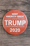 Keep America Great Trump 2020 / Trump Supporter Pin (white on red)