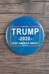 Trump 2020 Keep America Great! / Trump Supporter Pin (white and red on blue)