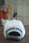 Trump Make America Great Again 2020 Signature Hat (WHITE) back