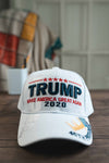 Trump Make America Great Again 2020 Signature Hat (WHITE)