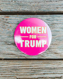 Wear this new Women for Trump pin as a patriotic supporter of our president!
