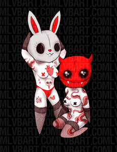 The Rabbit and The Devil Fine Art Print