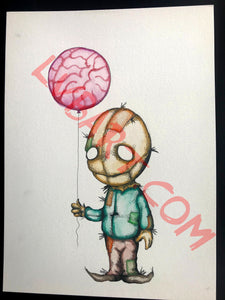 Brain Balloon 11x15 ORIGINAL Artwork