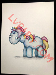 Unicorn 11x15 ORIGINAL Artwork