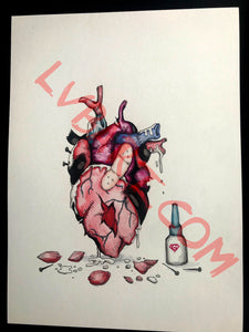 Heart Break 11x15 ORIGINAL Artwork