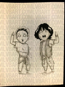 Bill and Ted 9x12 ORIGINAL Artwork