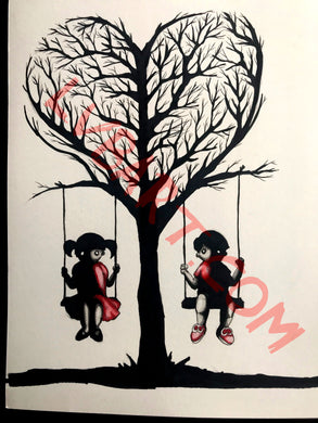 Spooky Kids 12x16 ORIGINAL Artwork
