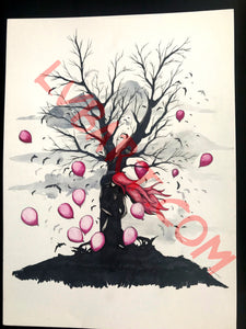 Tree Kiss 11x15 ORIGINAL Artwork
