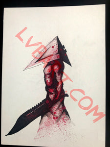 Pyramid Head 11x15 ORIGINAL Artwork