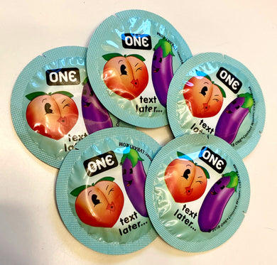 5 Pack ONE Condoms LVB Art Wrapper Design