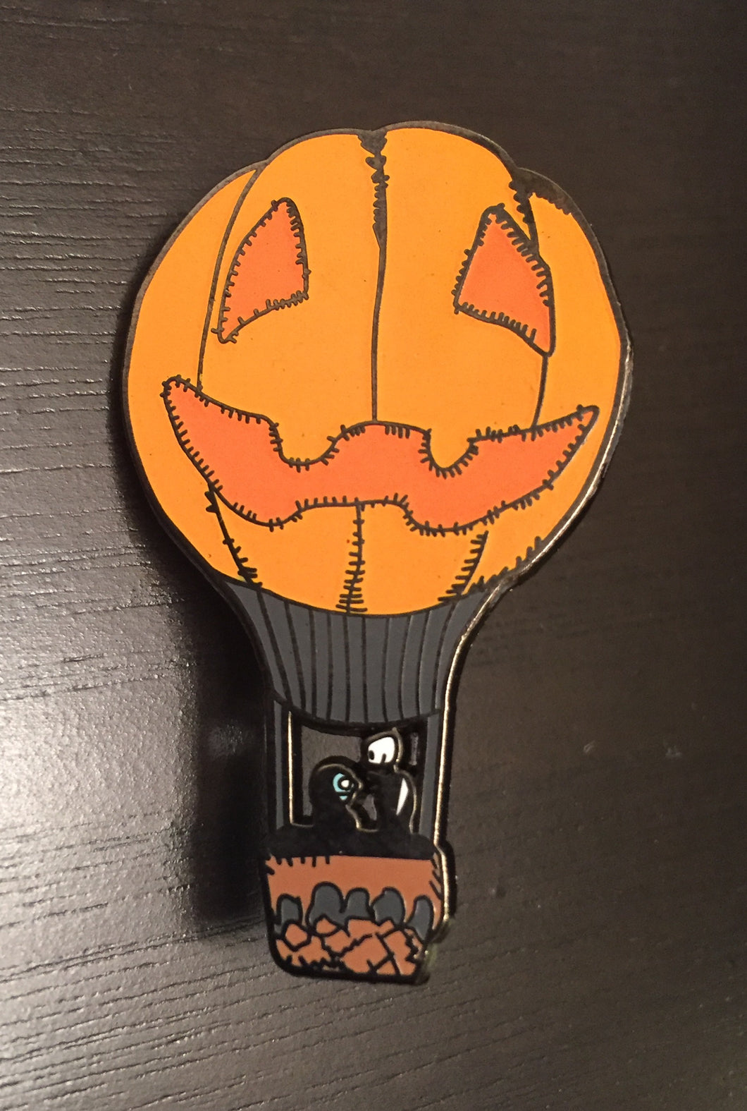 Jack & Sally Pumpkin Balloon Enamel Pin
