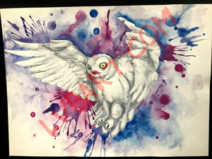 Purple Owl 11x15 ORIGINAL Artwork…