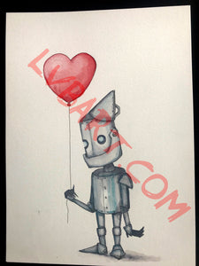 Tin Man 11x15 ORIGINAL Artwork