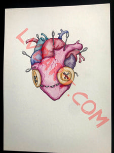 Voodoo Heart 11x15 ORIGINAL Artwork