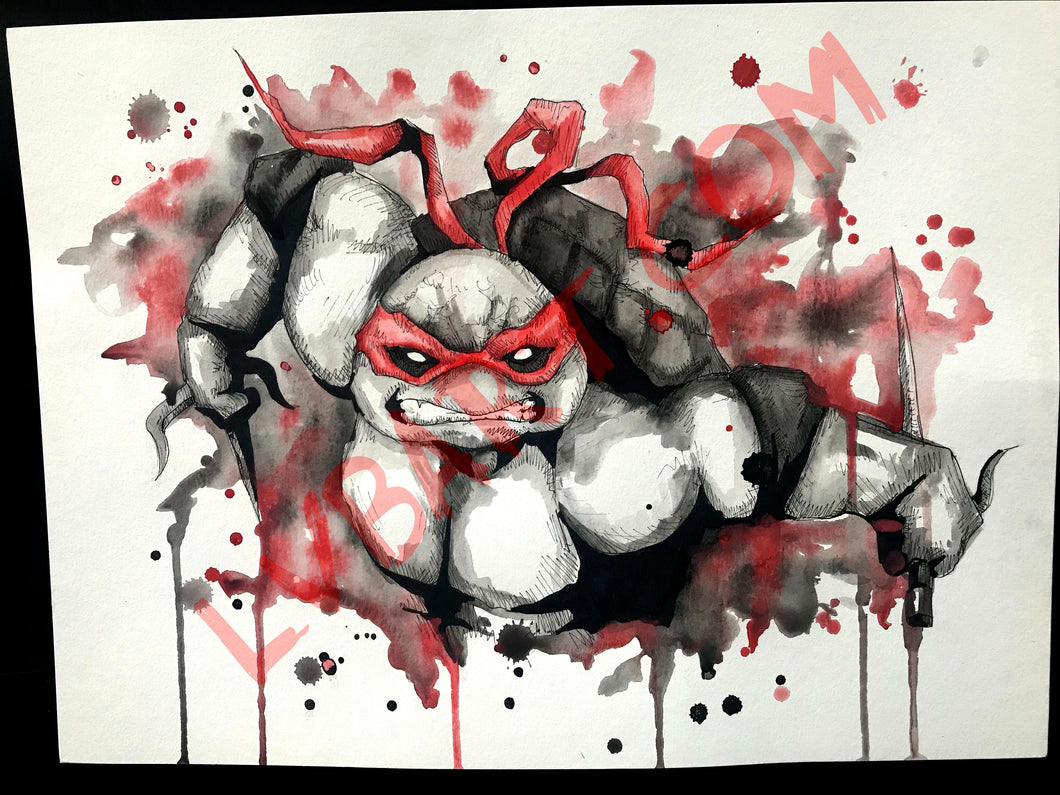 Raph 11x15 ORIGINAL Artwork