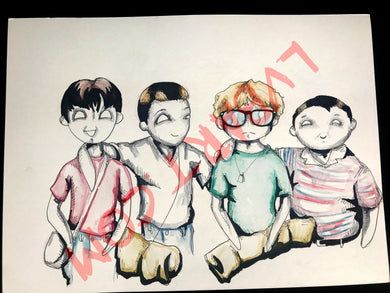 Stand By Me 11x15 ORIGINAL Artwork…
