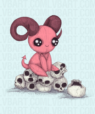 Adorable Evil Fine Art Print
