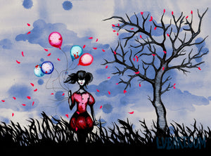 Balloon Girl 2 Fine Art Print