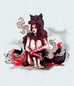 Big Bad Riding Hood Fine Art Print