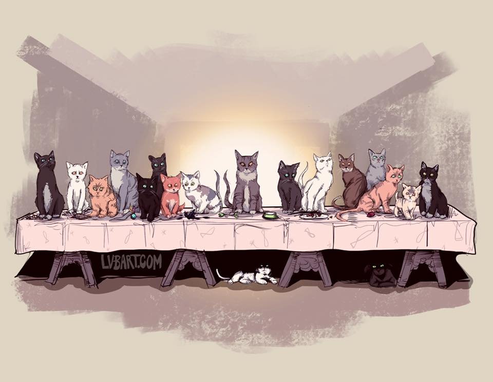 The Cat Supper Fine Art Print