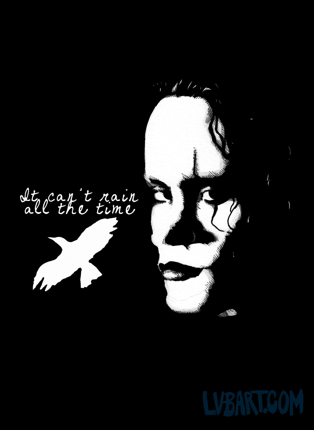 The Crow Rain All The Time Fine Art Print
