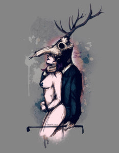Deer Daddy Series 1: Don't Be Scared Fine Art Print