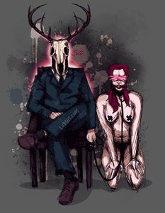 Deer Daddy Series 1: Sit Fine Art Print