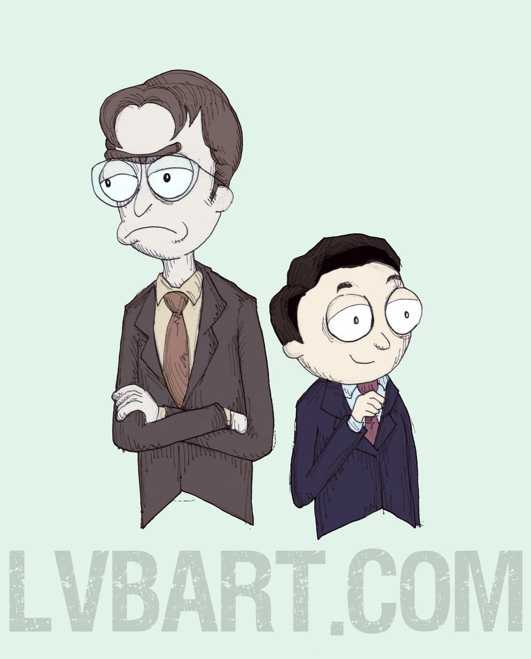 Rick Schrute & Morty Scott Fine Art Print