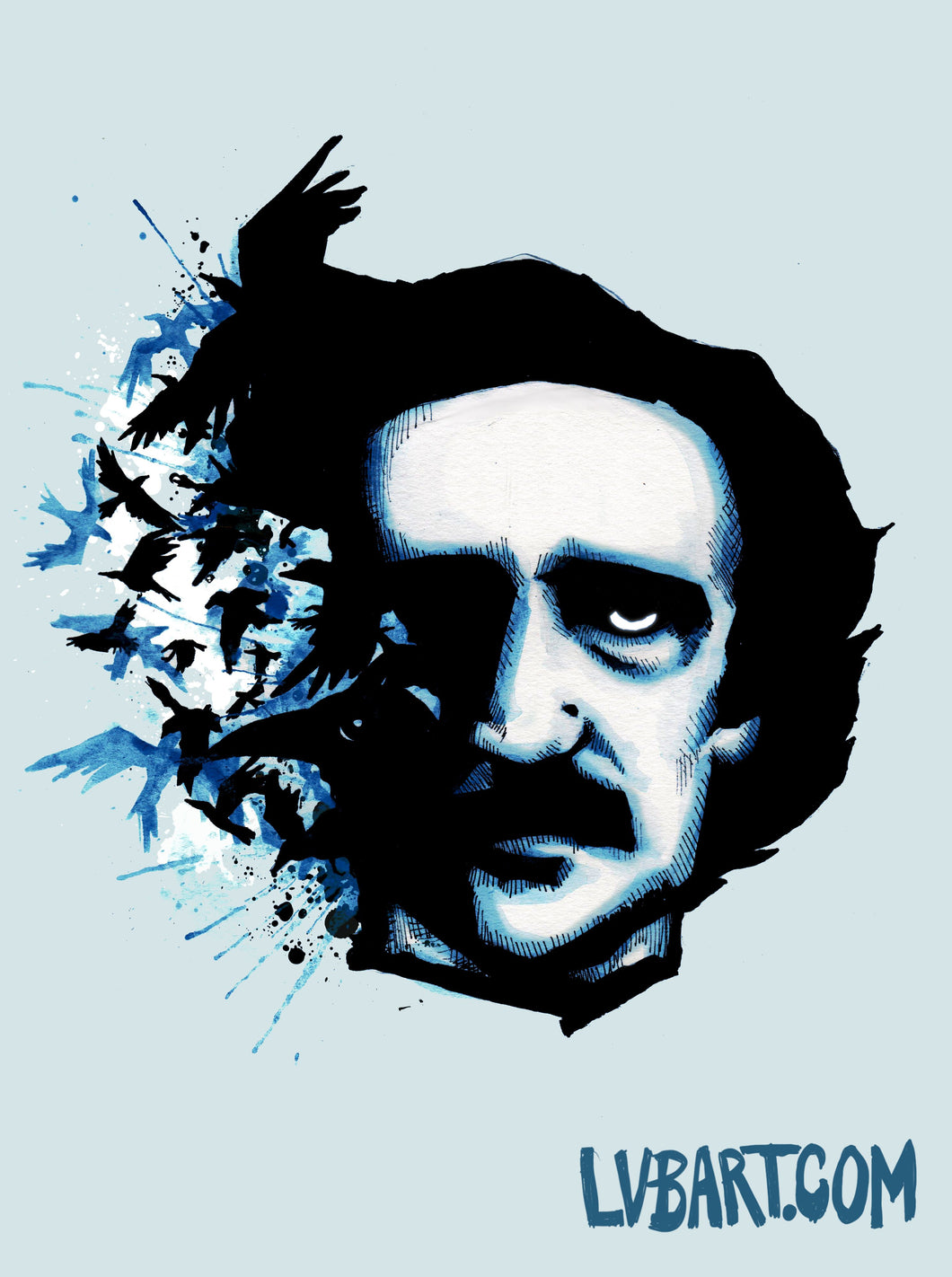 Edgar Allan Poe Crows Fine Art Print