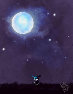 Girl Who Saved The Moon Fine Art Print