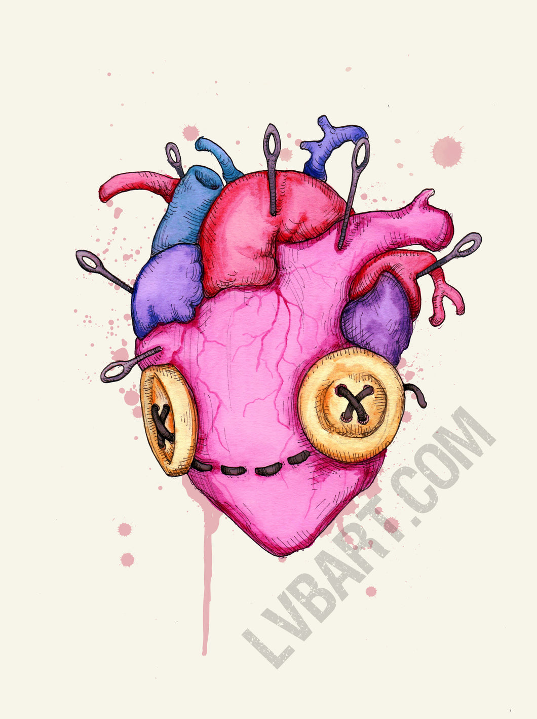 Happy Heart Fine Art Print