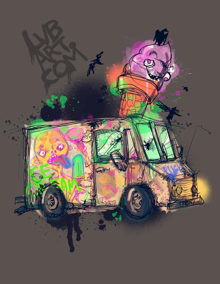 Ice Cream Truck Fine Art Print