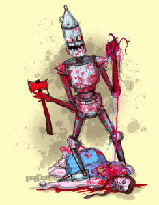 Tin Man Gets A Heart Fine Art Print