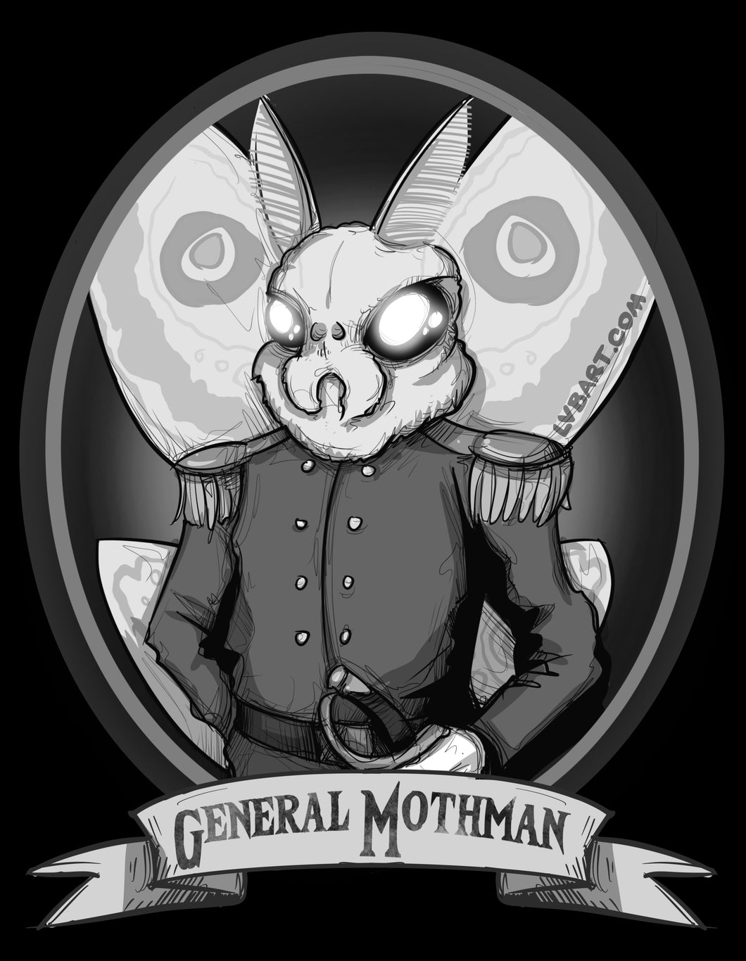 General Mothman Fine Art Print