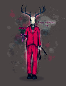 Deer Daddy Series 4: Valentines Fine Art Print