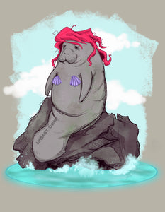 The Little Manatee Fine Art Print
