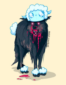 Wolf In Sheep's Clothing Fine Art Print