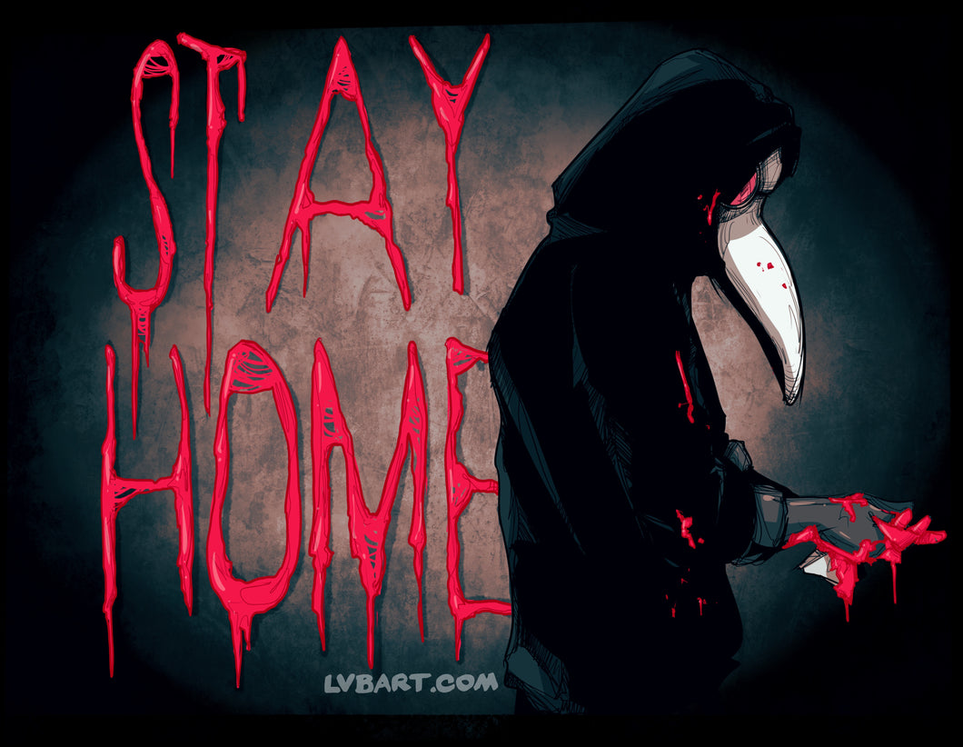 Stay Home Doctor Fine Art Print