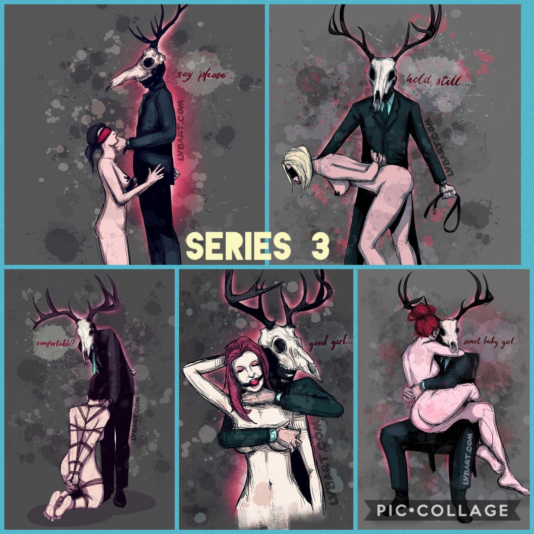 Deer Daddy Entire 5 Print Series 3 Fine Art Print