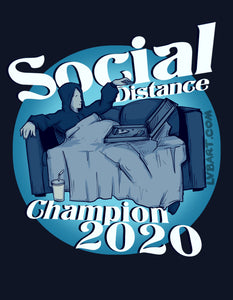 Social Distance Champion Fine Art Print
