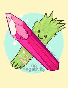 No Negativity Fine Art Print