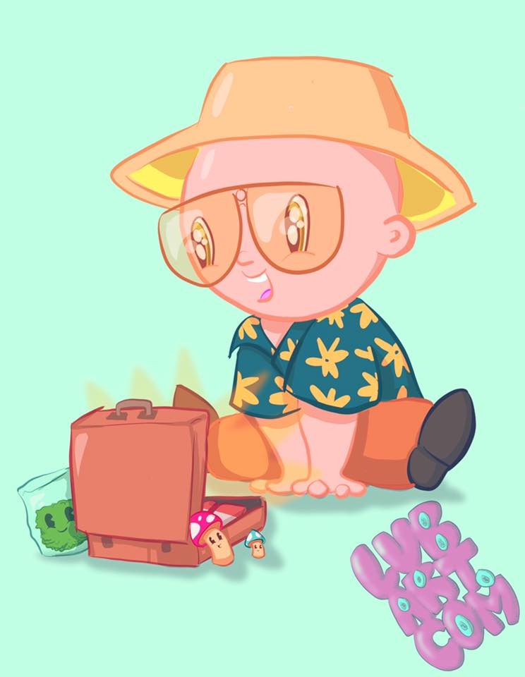 Fear & Loathing in Kawaii Vegas Fine Art Print