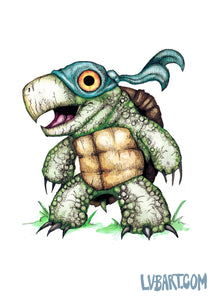 Teenage Mutant Snapping Turtle Fine Art Print