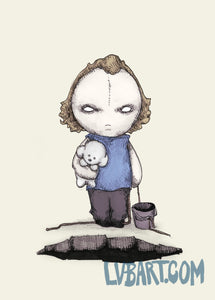 Put The Plushing Lotion In The Basket Fine Art Print