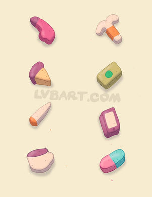 Adult Lucky Charms Fine Art Print