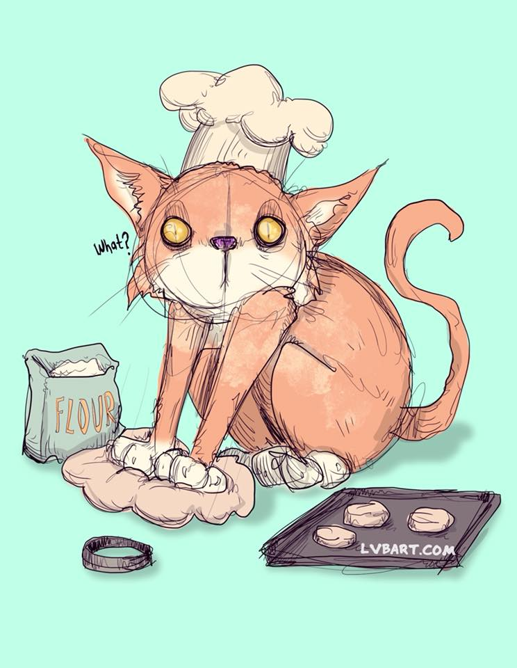 Making Biscuits Fine Art Print
